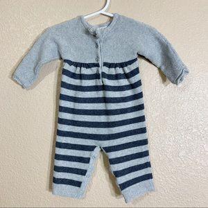 Angel Dear baby girl knit sweater jumpsuit 0-3m